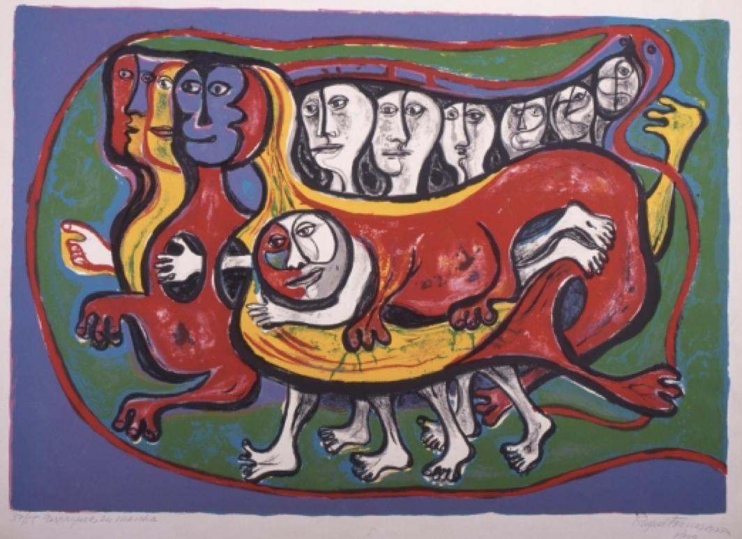 Image of the artwork Terráqueos en marcha by Raquel Forner