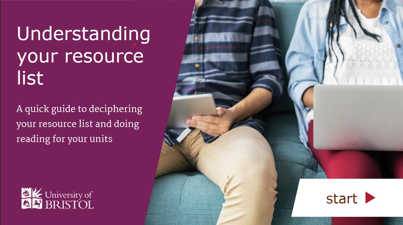Understanding your resource list