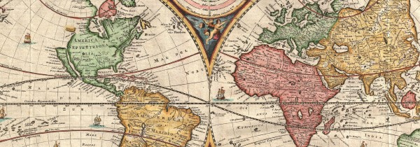 Detail from 1730 Stoopendaal Map of the World
