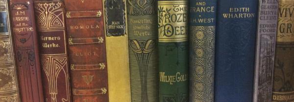 Rainbow of vintage books