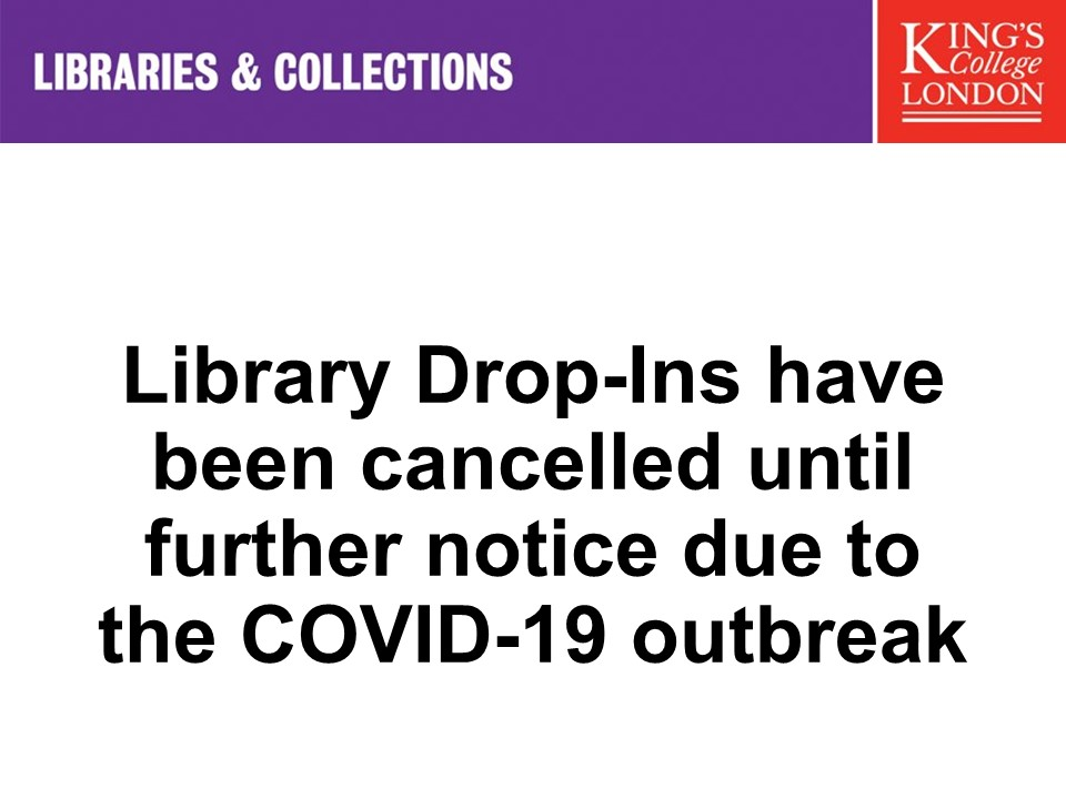 library drop-ins have been cancelled