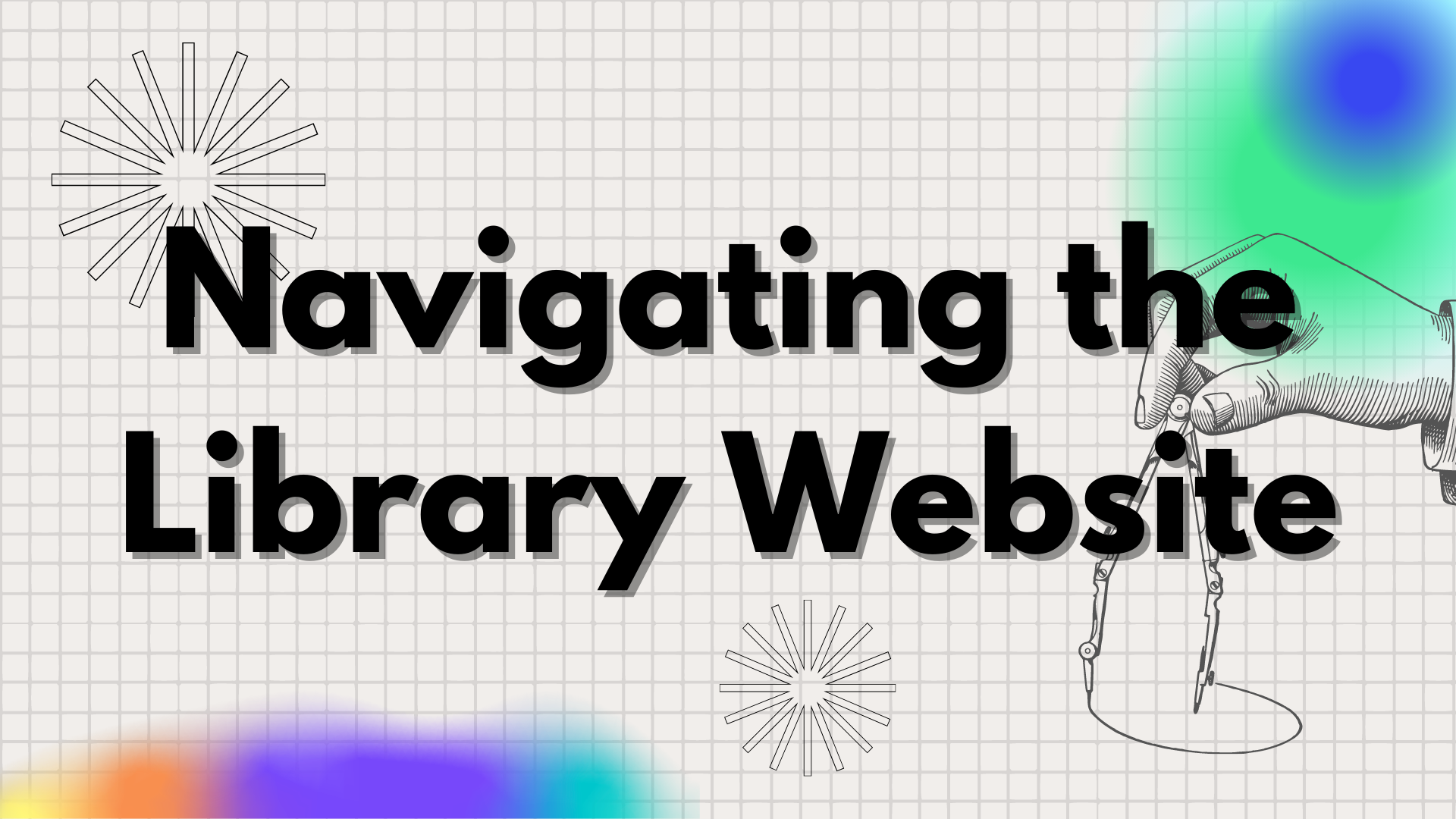 Link to navigating the library website video