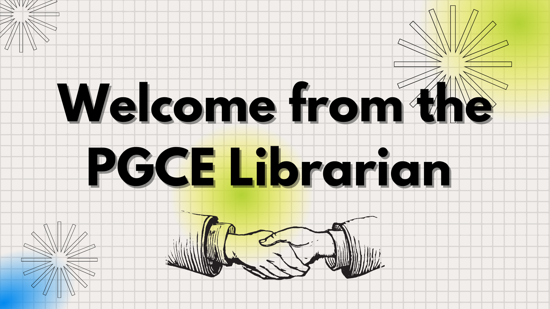 Link to the video welcome from Adele education librarian