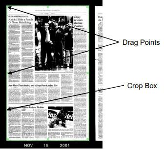 ScanPro 'drag points'