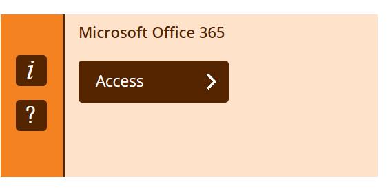 Access Microsoft 365 via MyBeckett IT tab, this is an orange box with an Access link button.