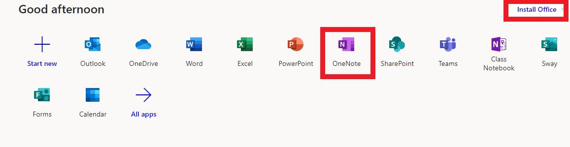 Access OneNote