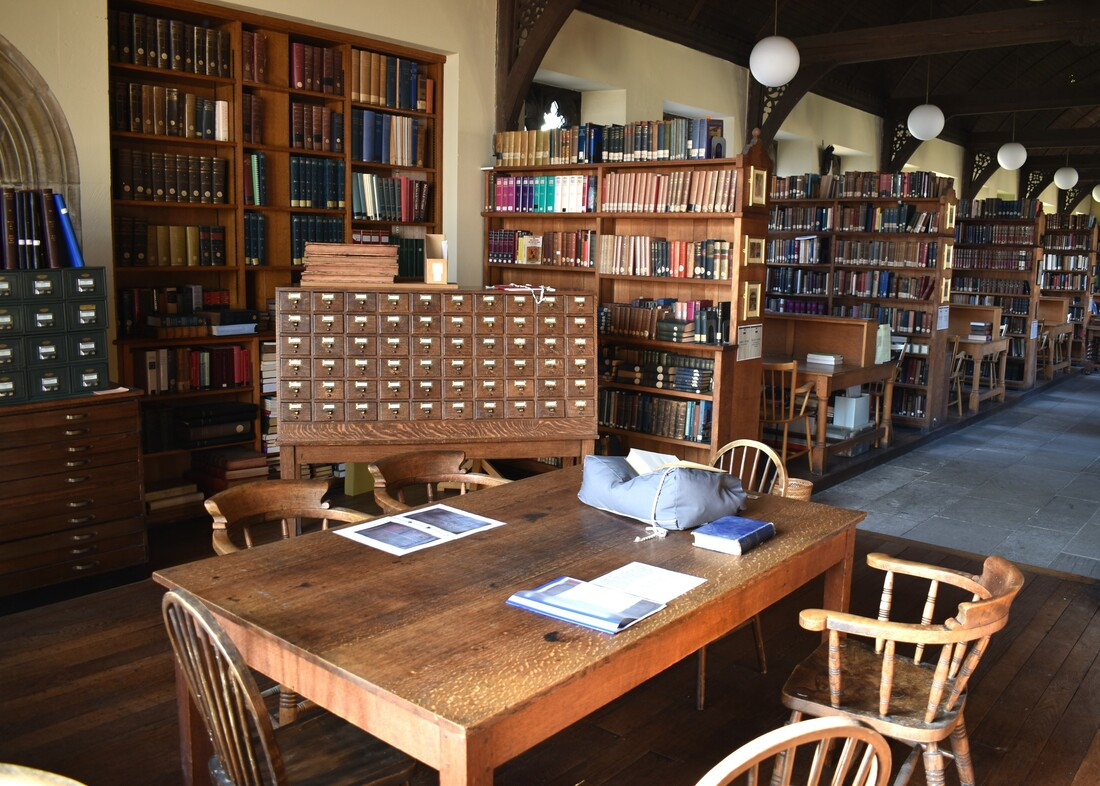 A photograph of the reading room at Pusey House.