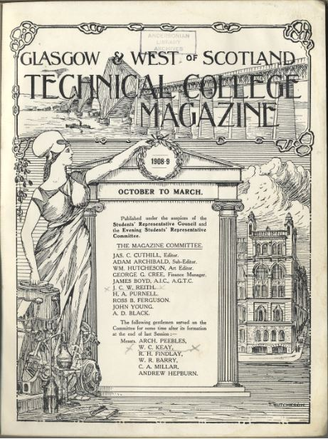 Front cover of the earliest student magazine