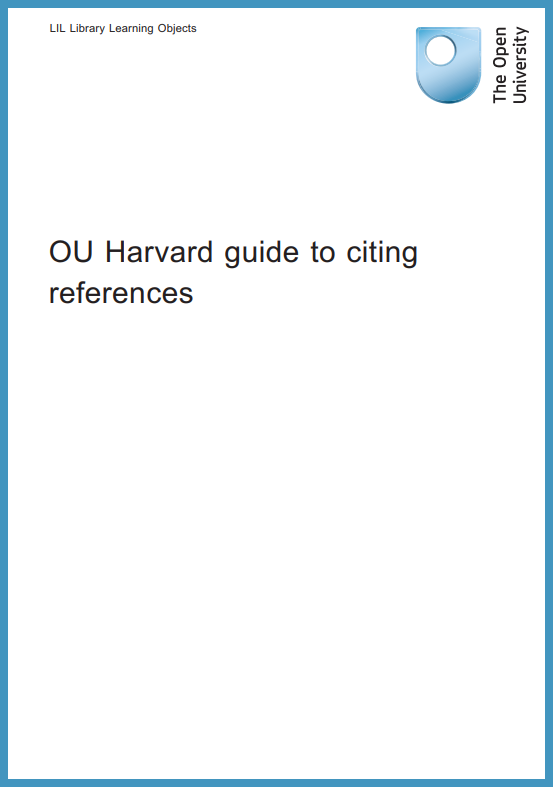 Cover image of the OU referencing guide