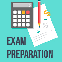 Exam preparation icon