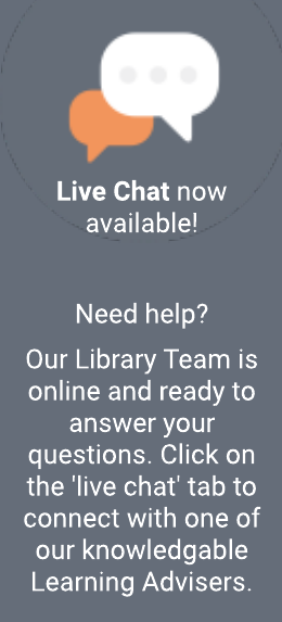 Live chat is now available. Click on the 'live chat' tab to connect with one of our knowledgeable learning advisers.