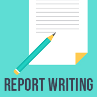 Report writing icon