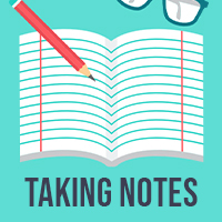 Taking notes icon