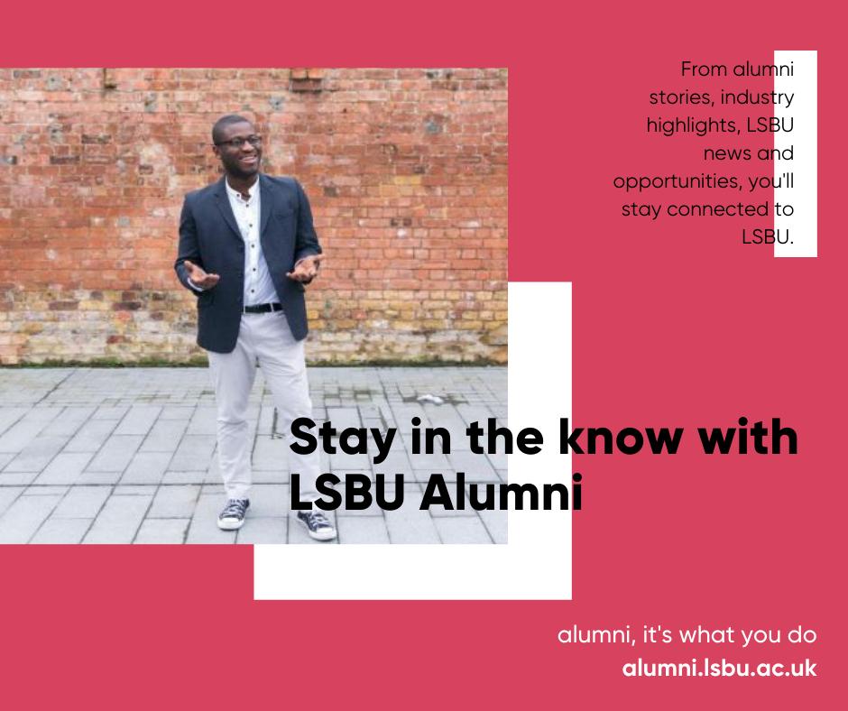 Photo of LSBU black male alumnus