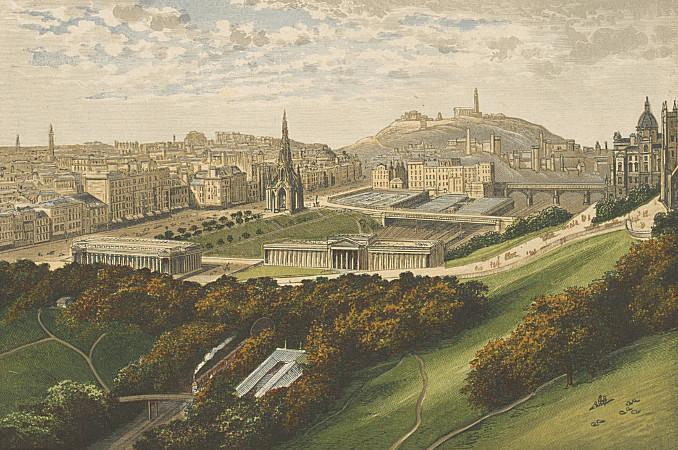 IE BL/CV/TP/SCOTLAND/EDINBURGH/4 Edinburgh from the Castle