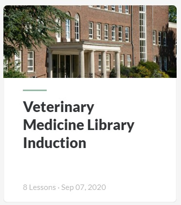 Screenshot of the Veterinary Library Induction