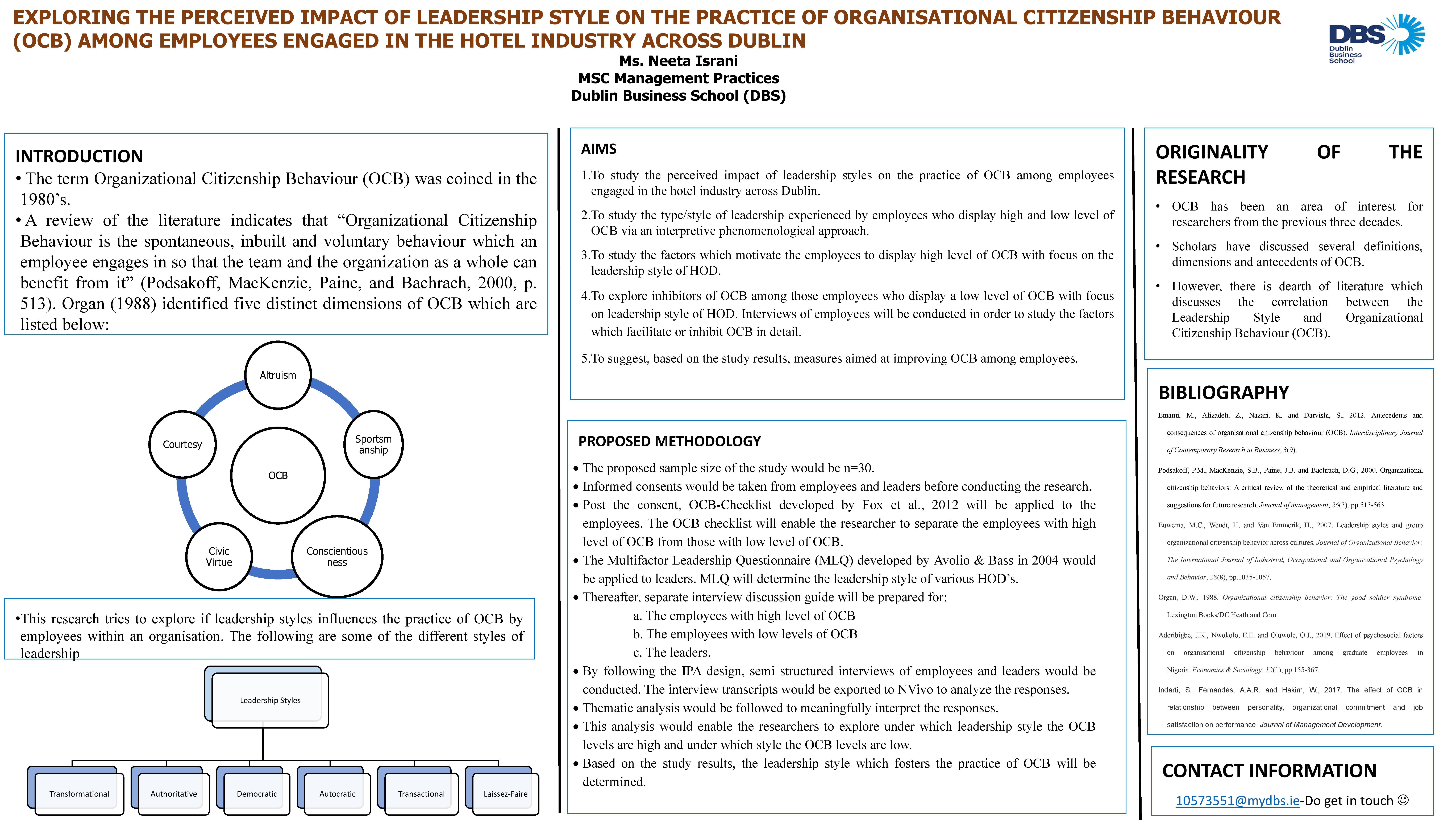 Leadership Style, Organisational Citizenship Behaviour