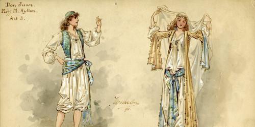 Wilhelm Design for Don Juan (Millie Hylton) Act 3, MM_DESIGNS_326 Don Juan (burlesque, Gaiety Theatre 1893)