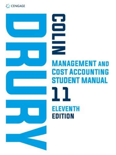 Management and cost accounting. Student manual