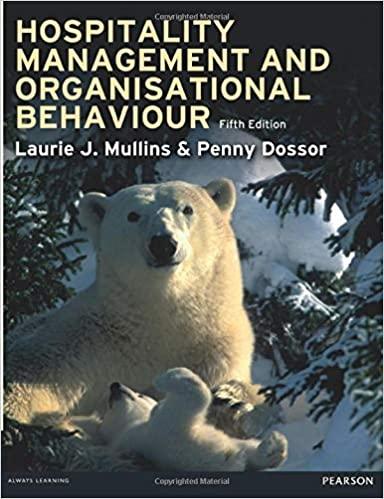 Hospitality management and organisational behaviour.