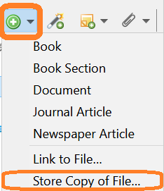 Desktop add stored PDF screenshot
