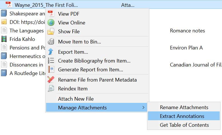 Desktop extract annotations screenshot