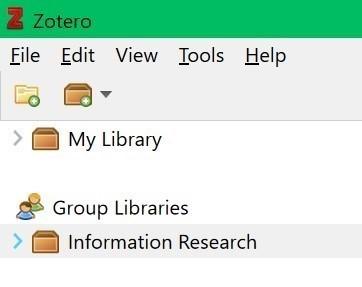 Zotero group libraries screenshot