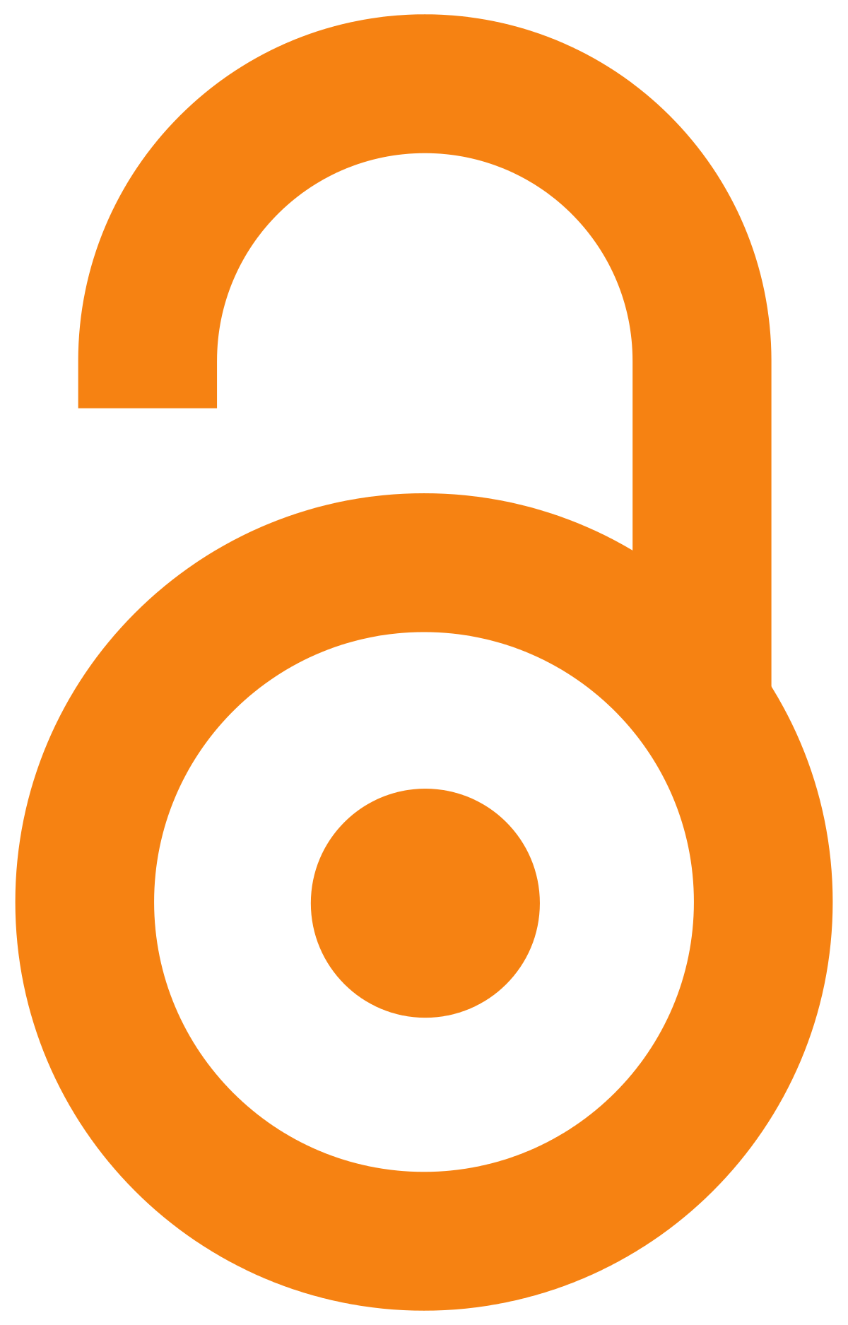 The open access logo shows an orange padlock which is unlocked