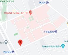 BU Necker - Plan d'accès