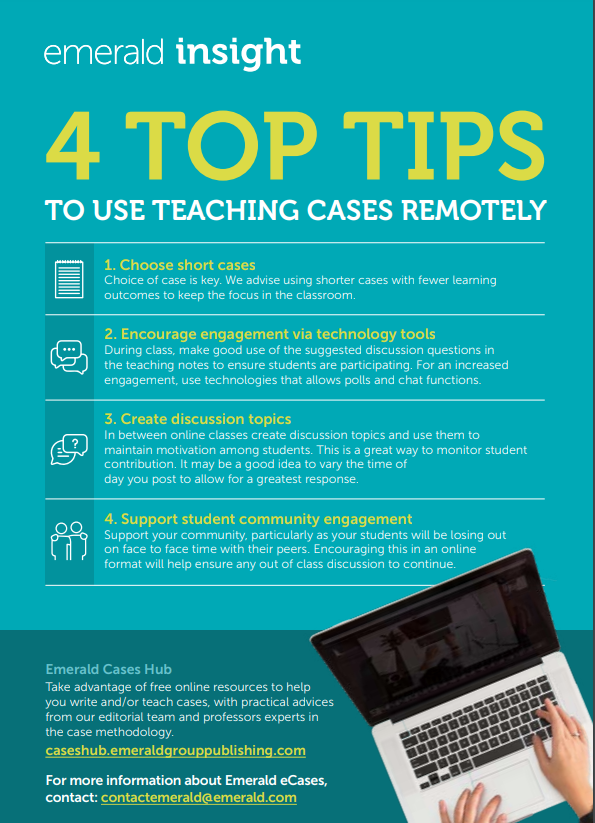 4 top tips to use teaching cases remotely
