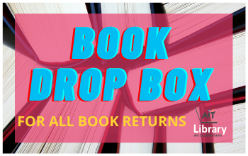 Book drop box for all book returns