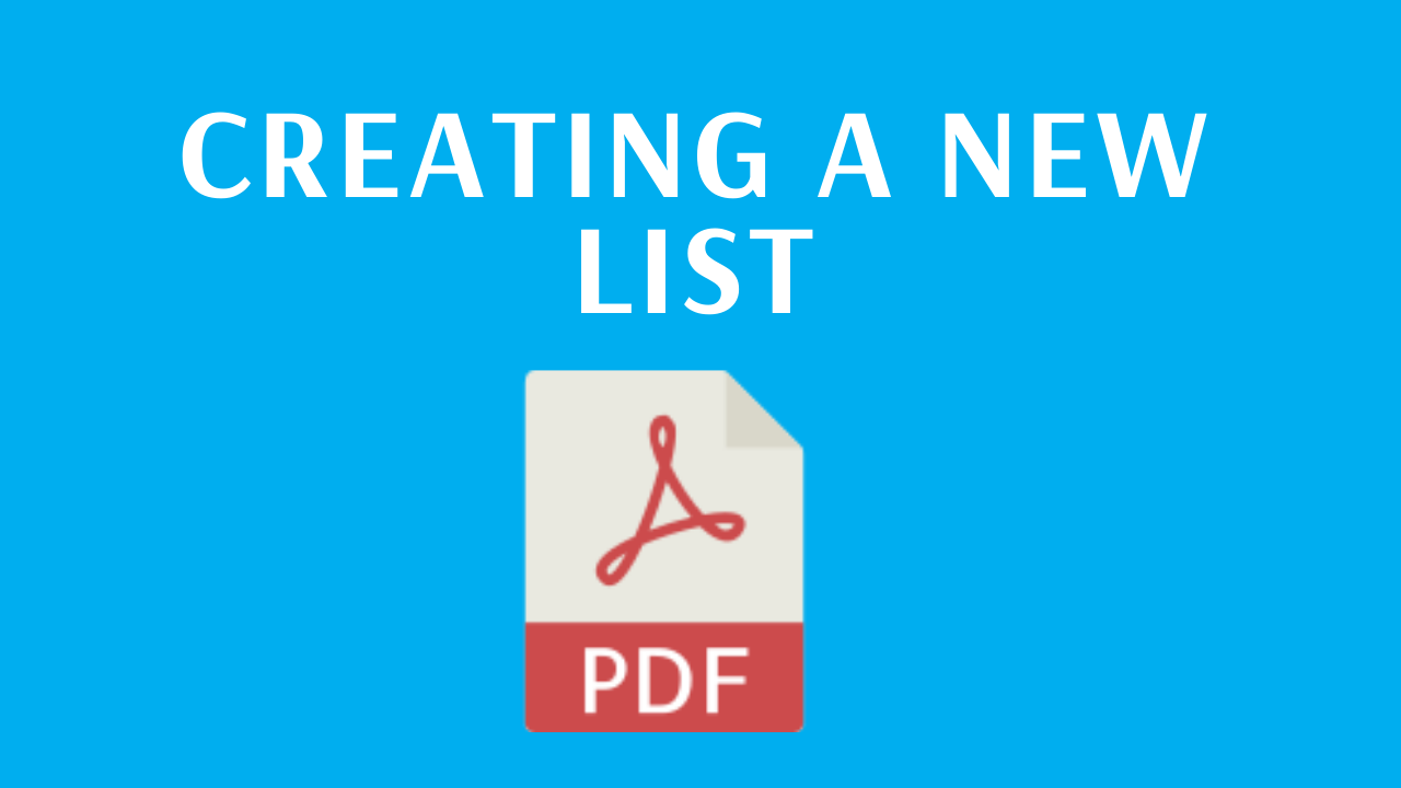 Creating a new list - PDF guide