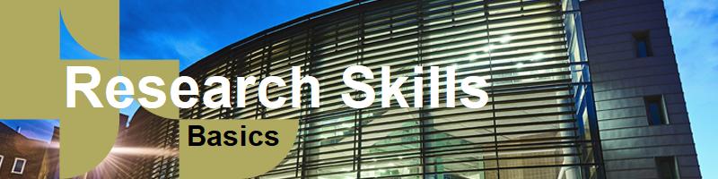Banner: Research Skills - Basics