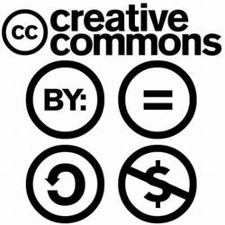 Creative commons 4 logos