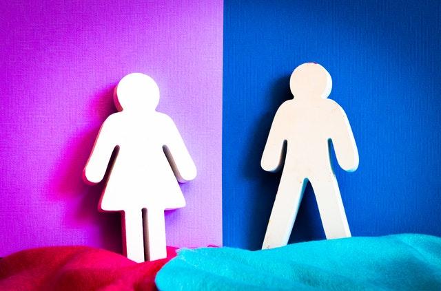Male and female cutouts