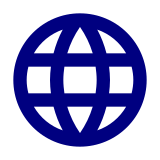 A blue globe symbol indicating that a eresource is online and freely available to all.