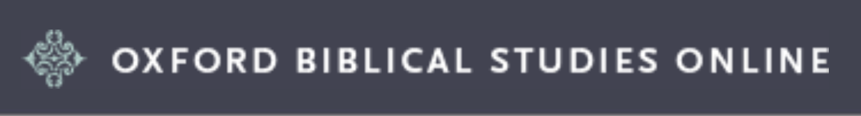 Oxford Biblical Studies Online banner image.