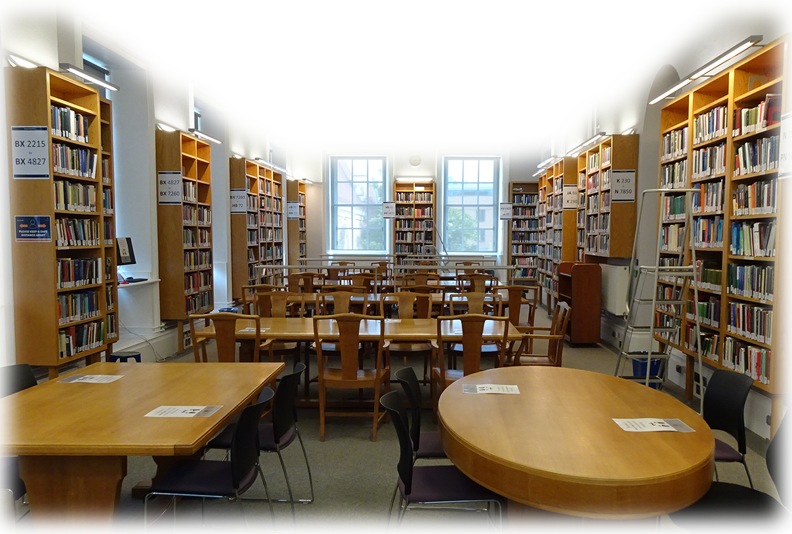 A photo of the First Floor Reading Room of the Philosophy and Theology Faculties Library
