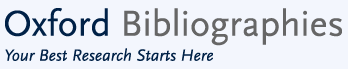 Oxford Bibliographies banner image