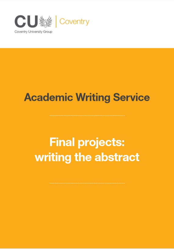 Guide to writing an abstract for a final project.