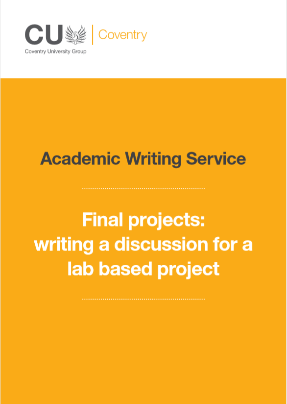 Guide to writing a discussion for a lab based final project.