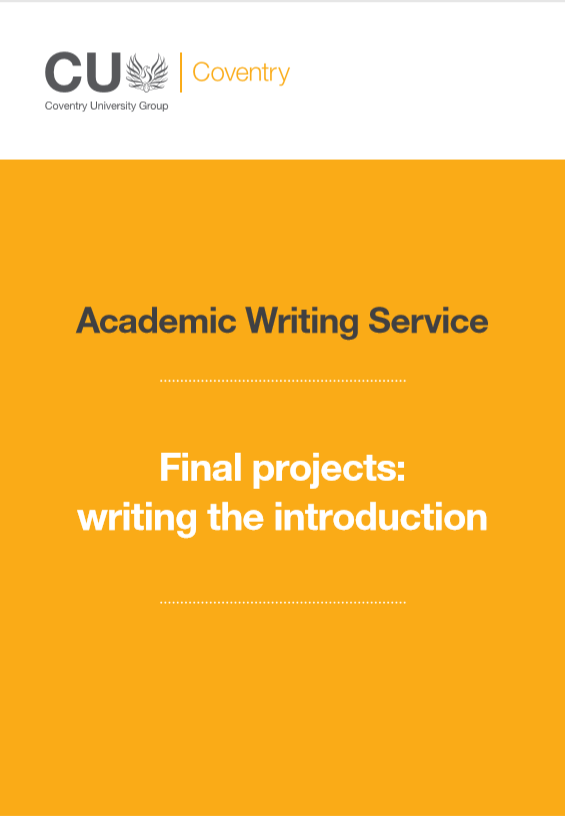 Guide to writing an introduction for a final project.