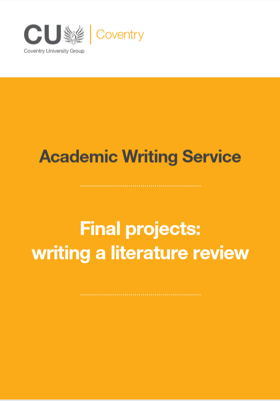 Guide to writing a literature review for a final project.