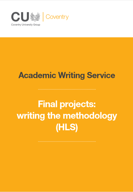 Guide to writing a methodology for a lab based final project in biochemical sciences.