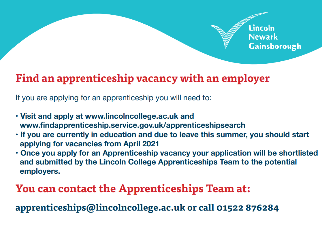 How to find an apprenticeship vacancy image