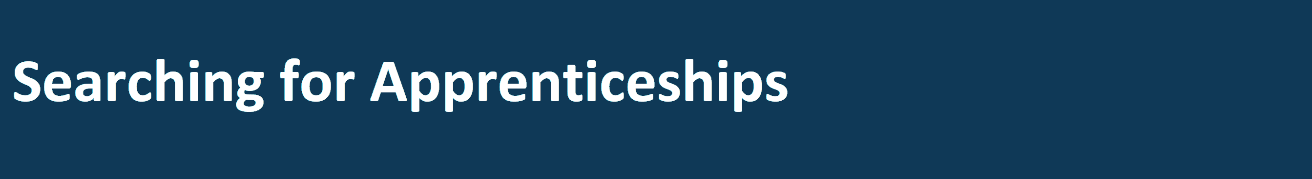 Search for Apprenticeships