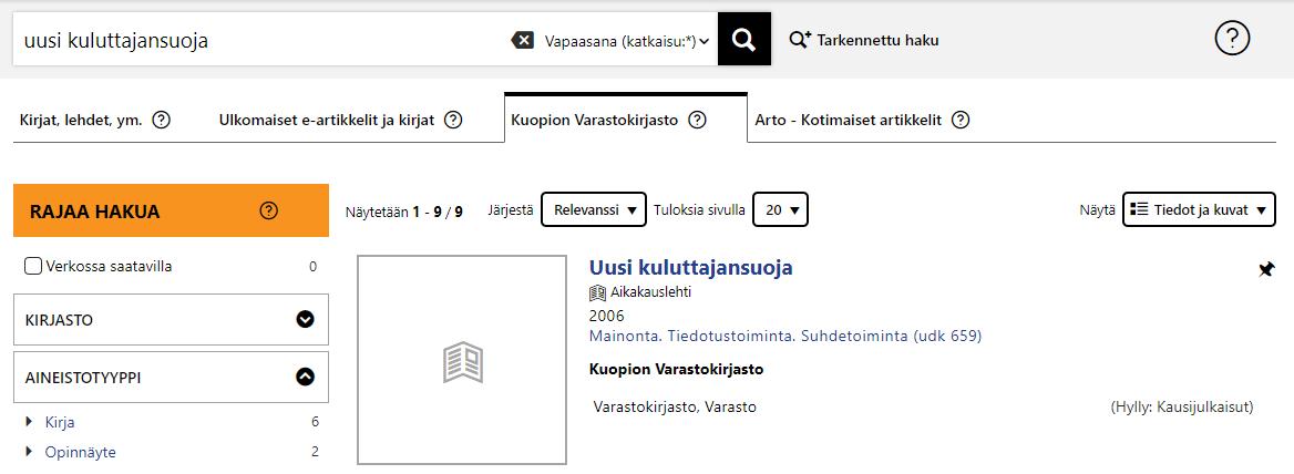 Oula-Finnasta hakeminen