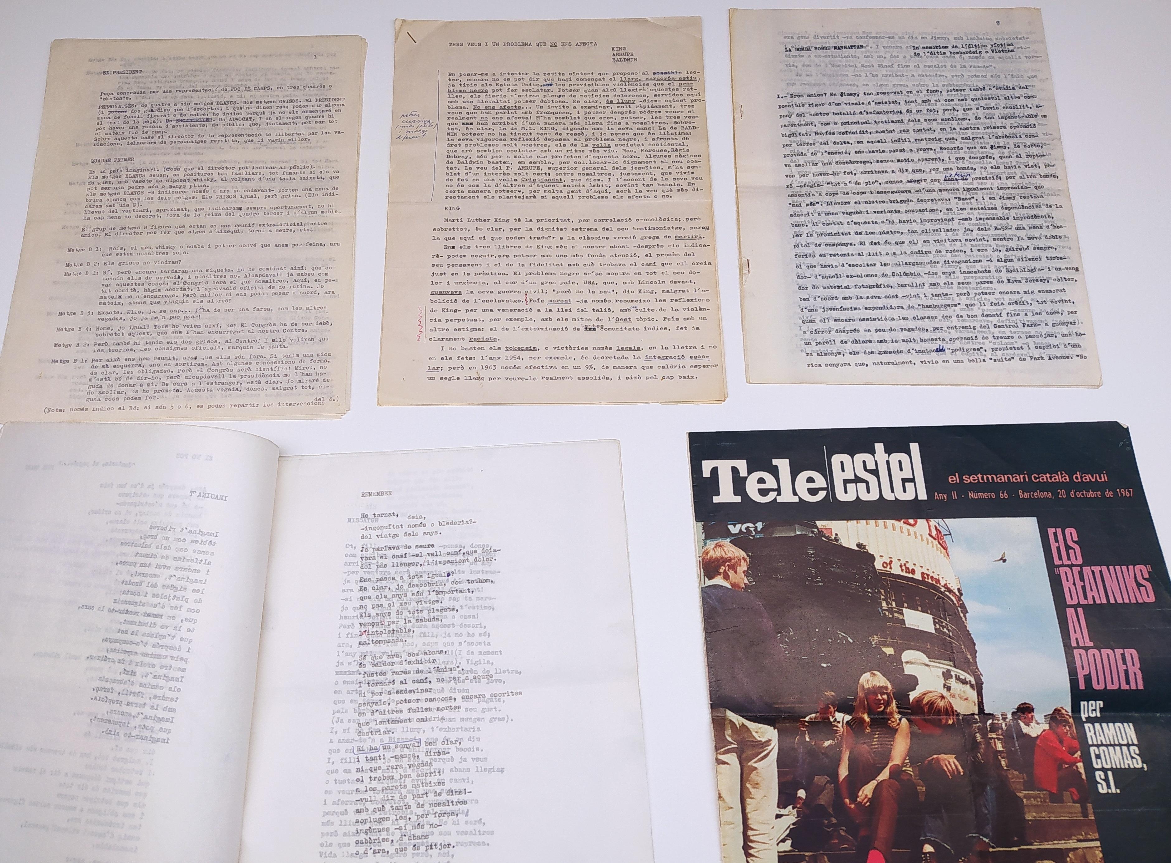 Diversos textos, publicats i inèdits de Ramon Comas