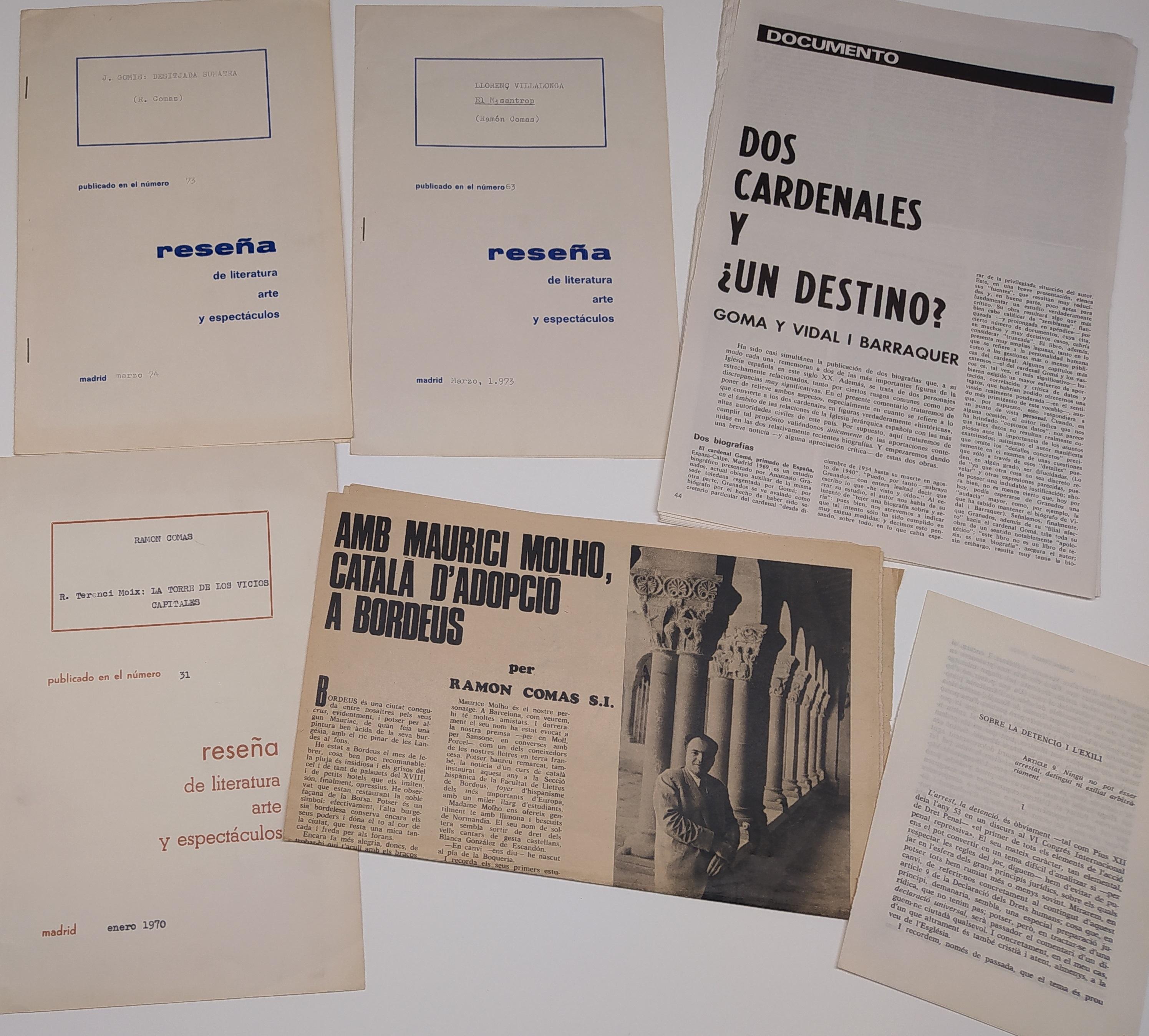 Articles publicats de Ramon Comas
