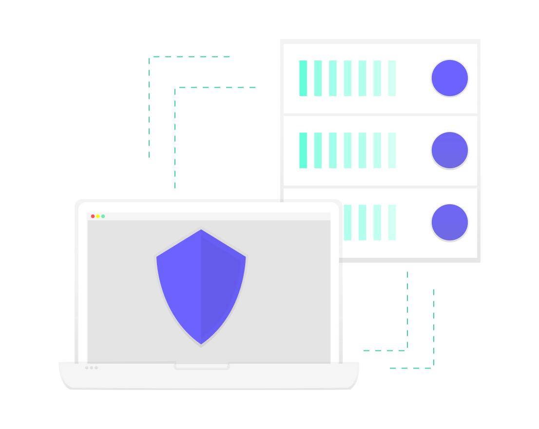 Icona de protecció amb antivirus